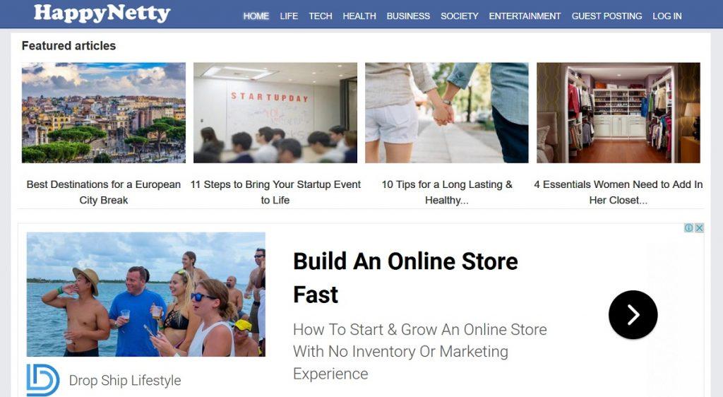 HappyNetty - A Social Blog