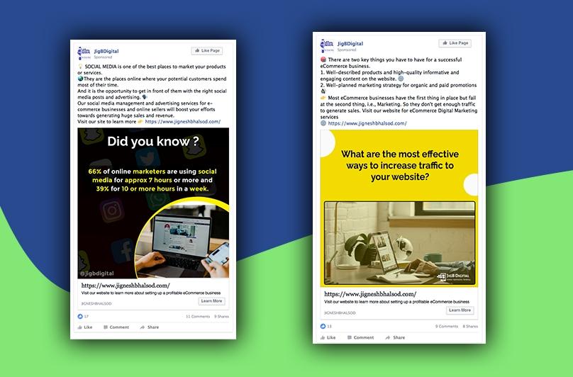 Branded Social Media Posts for Digital Marketing Agency